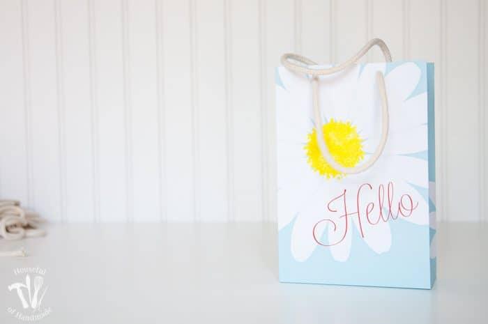 Printable Daisy Gift Bags FB