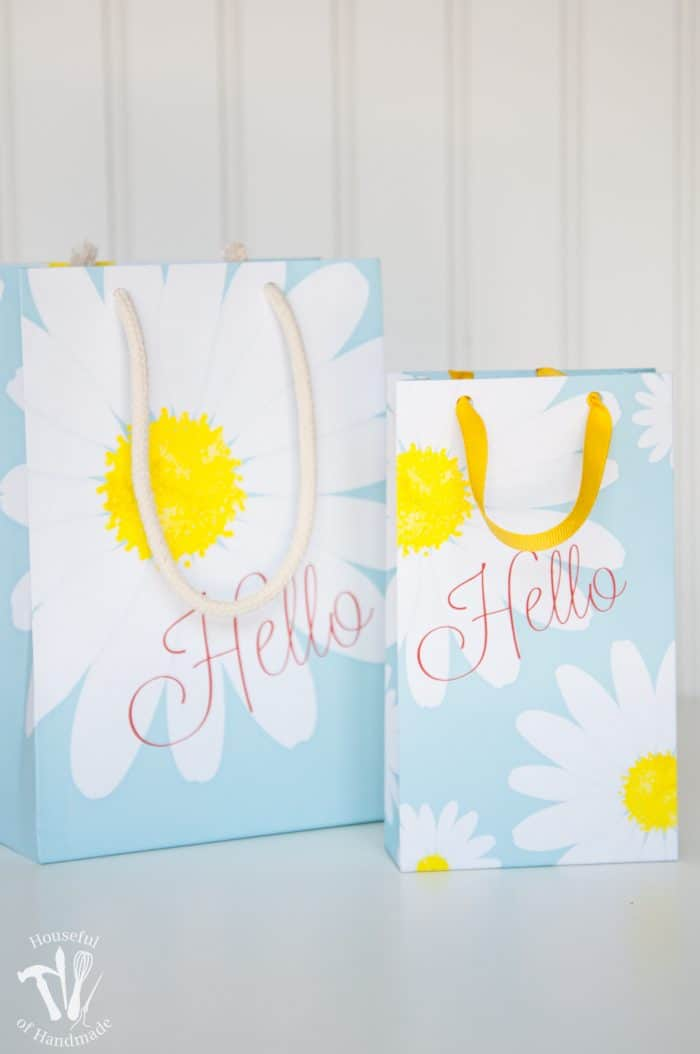 Printable Daisy Mother's Day Gift Bags