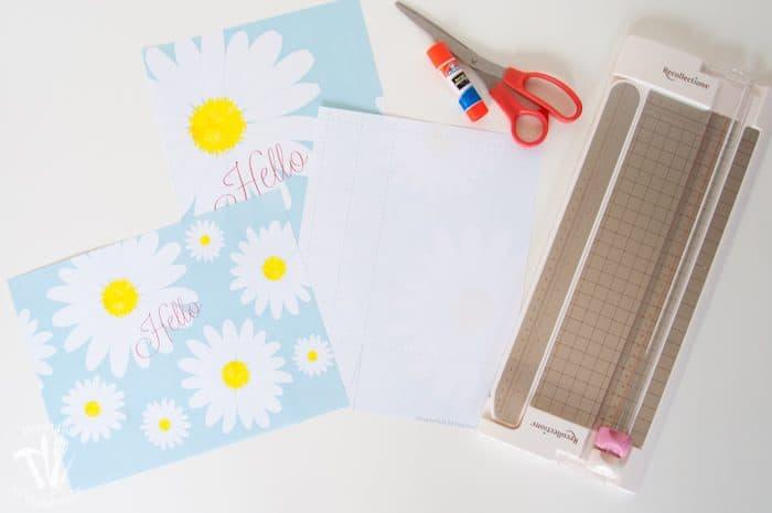 Printable Diasy Gift Bag Supplies