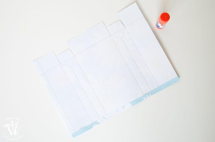 Printable Gift Bags glued