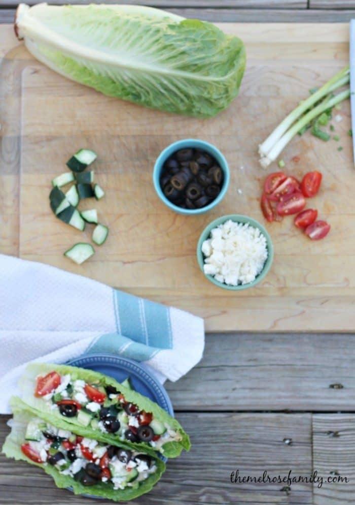 Vegetarian Wraps Greek