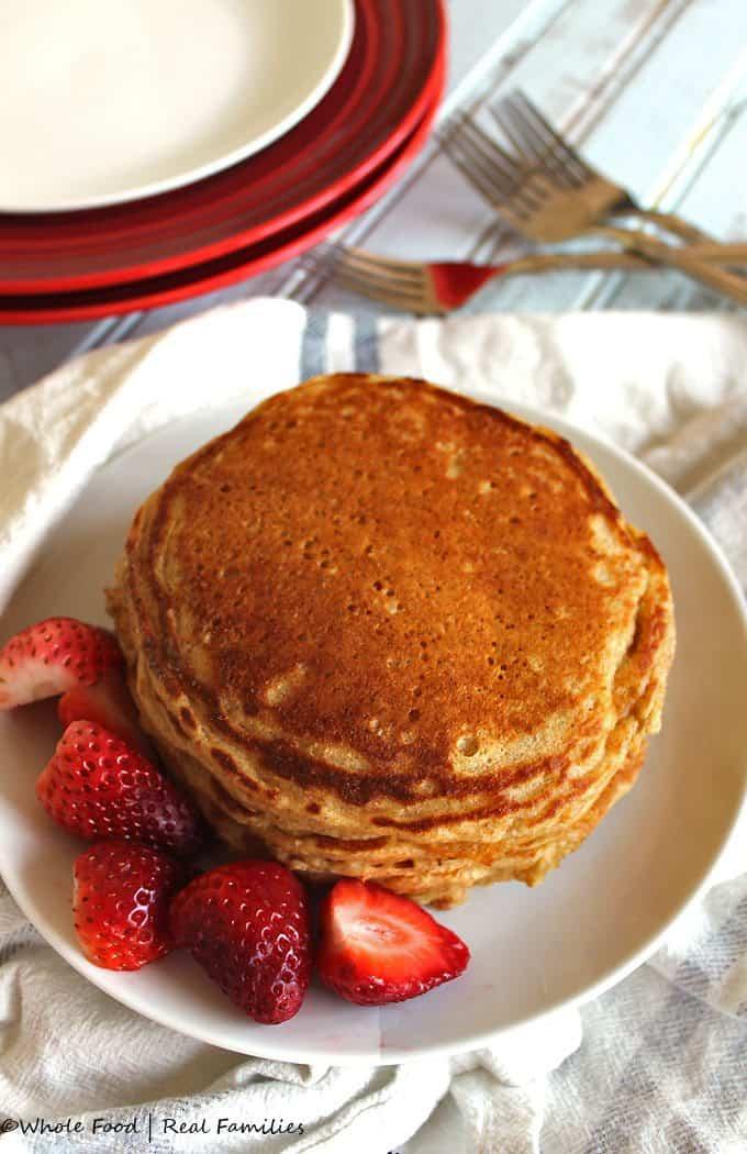 Whole Wheat Buttermilk Pancakes Healthy Breakfast