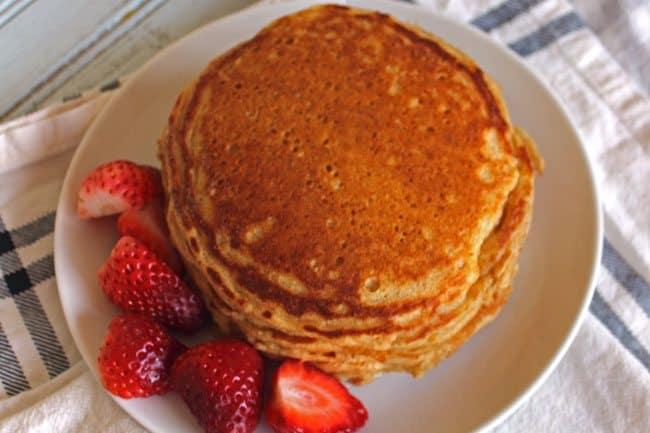 Whole Wheat Buttermilk Pancakes Recipe
