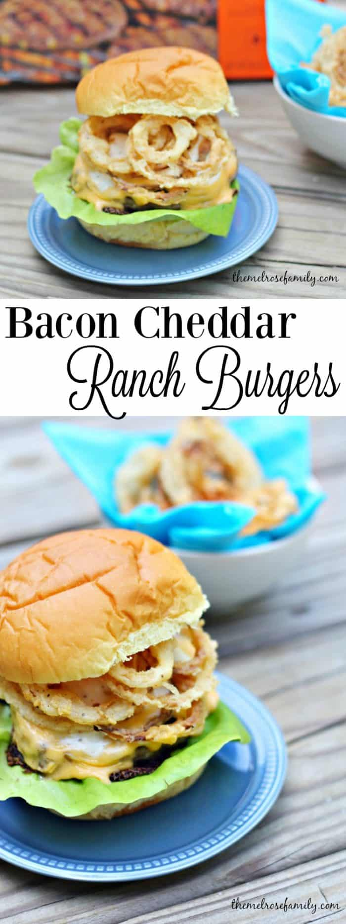 Need the perfect burger for your next barbecue These Bacon Cheddar Ranch Burgers with Onion Strings are just what a crowd ordered.