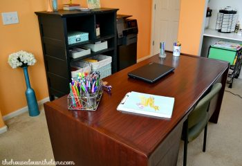 An organized desk in my home office