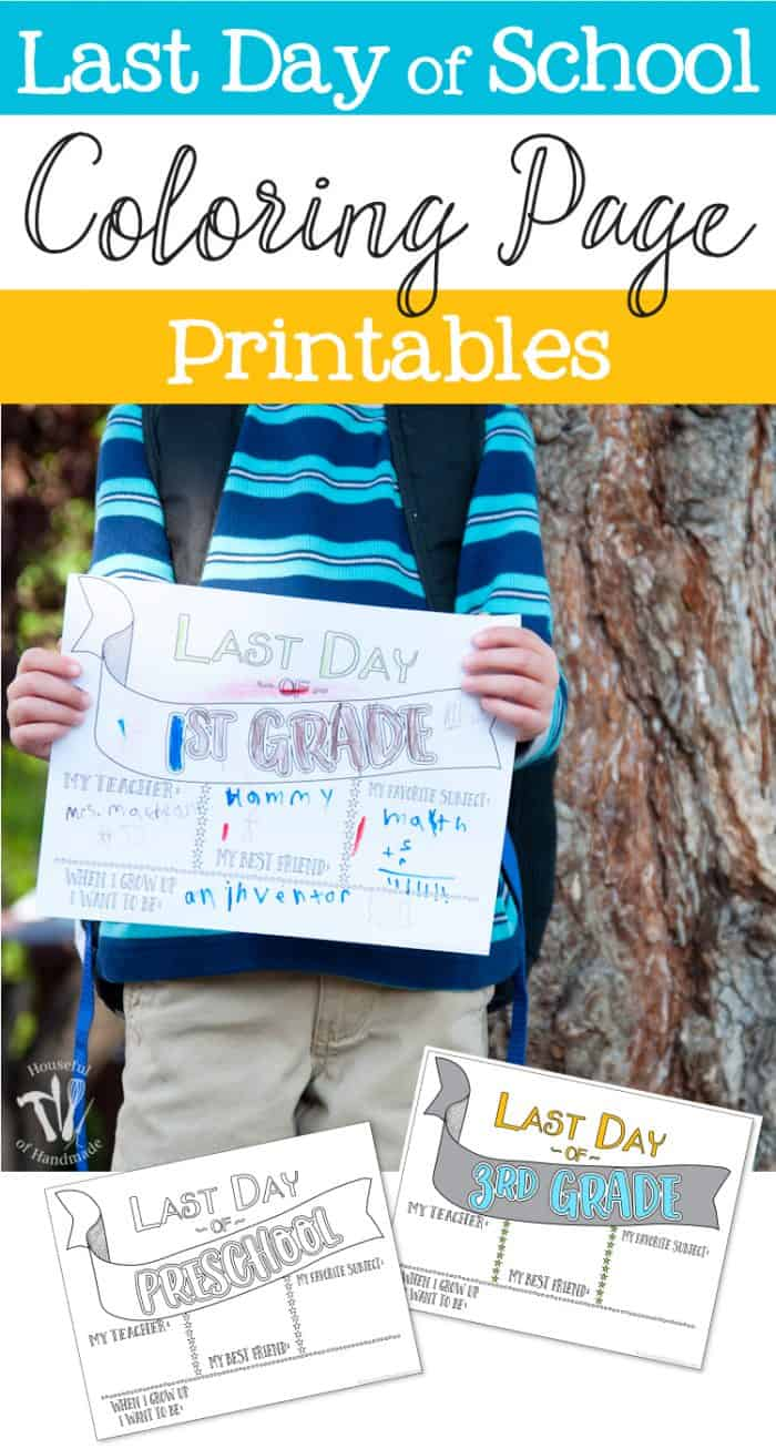 Wanting to save those last day of school memories? These Last Day of School Coloring Printables are the perfect way to look back over a successful year.