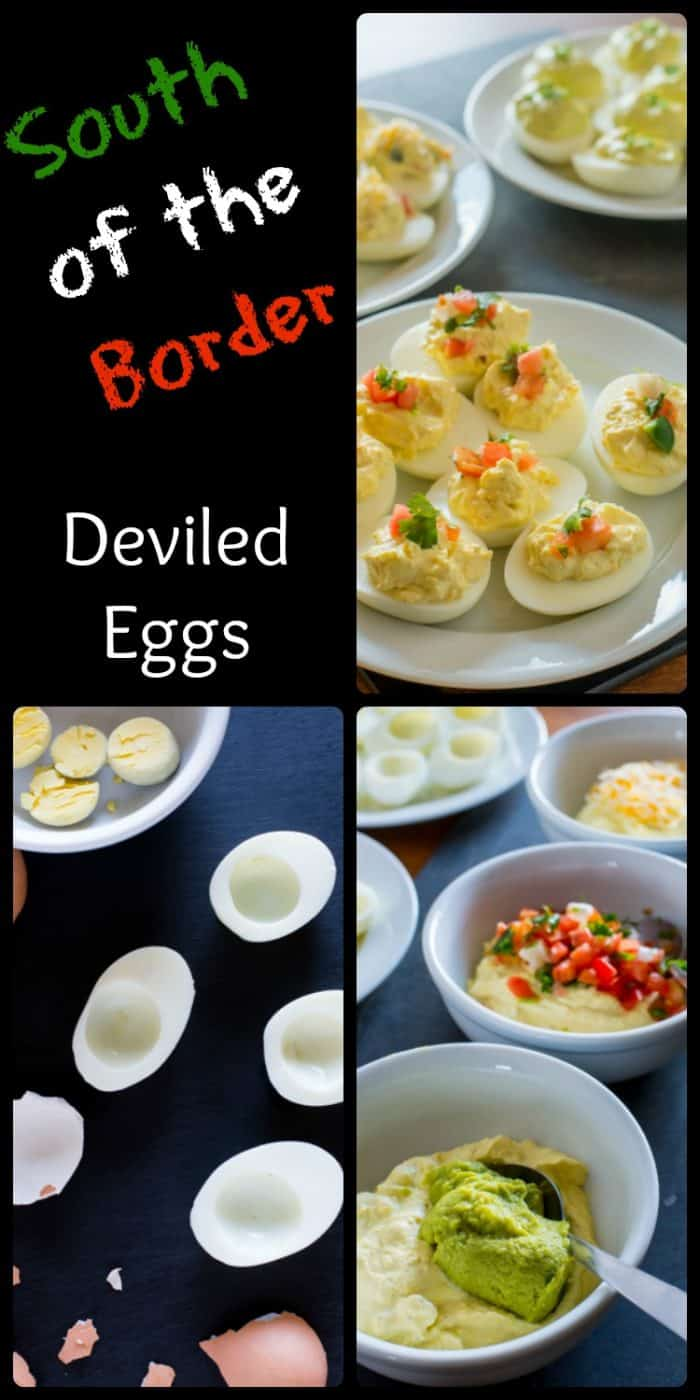 Not sure what to serve as an easy appetizer? These South of the Border Deviled Eggs are the perfect appetizer with a kicking flavor.