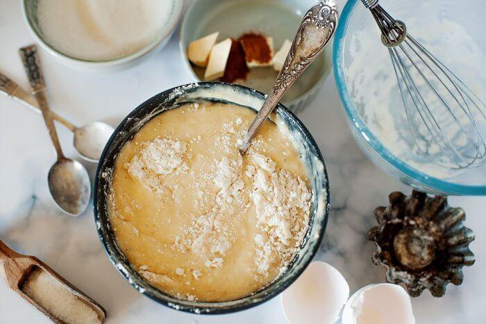 Banana Bread Muffin batter