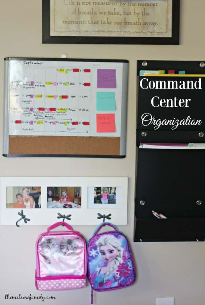 Feeling disorganized? Our Command Center Organization will get you ready to take on the school year.