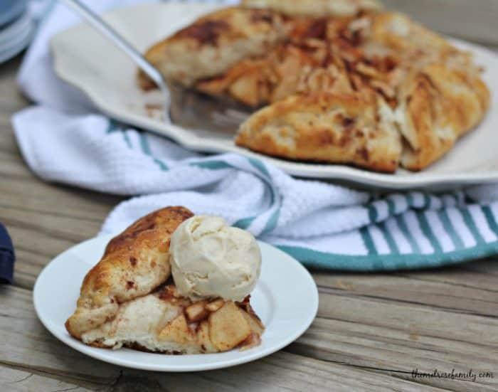 Apple Pie Crostata Topped with Ice Cream