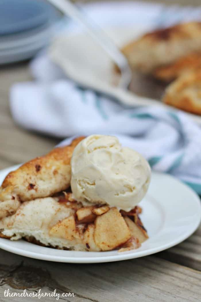 Apple Pie Crostata with French Vanilla Ice Cream