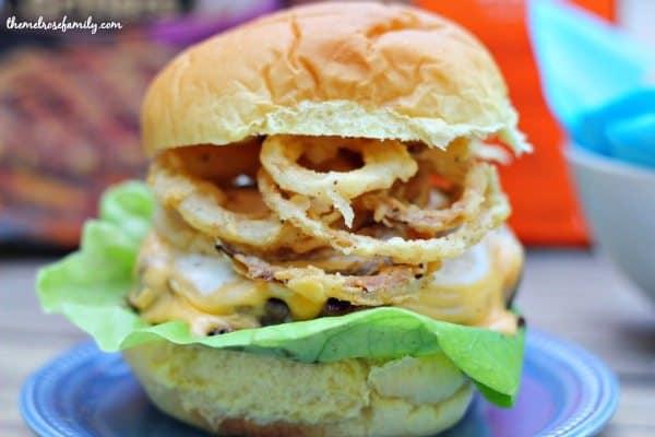 Bacon Cheddar Ranch Sausage Burger