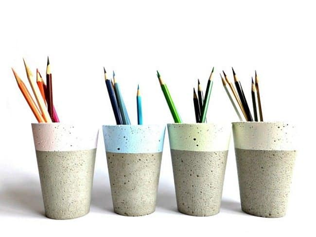 funky pencil cups