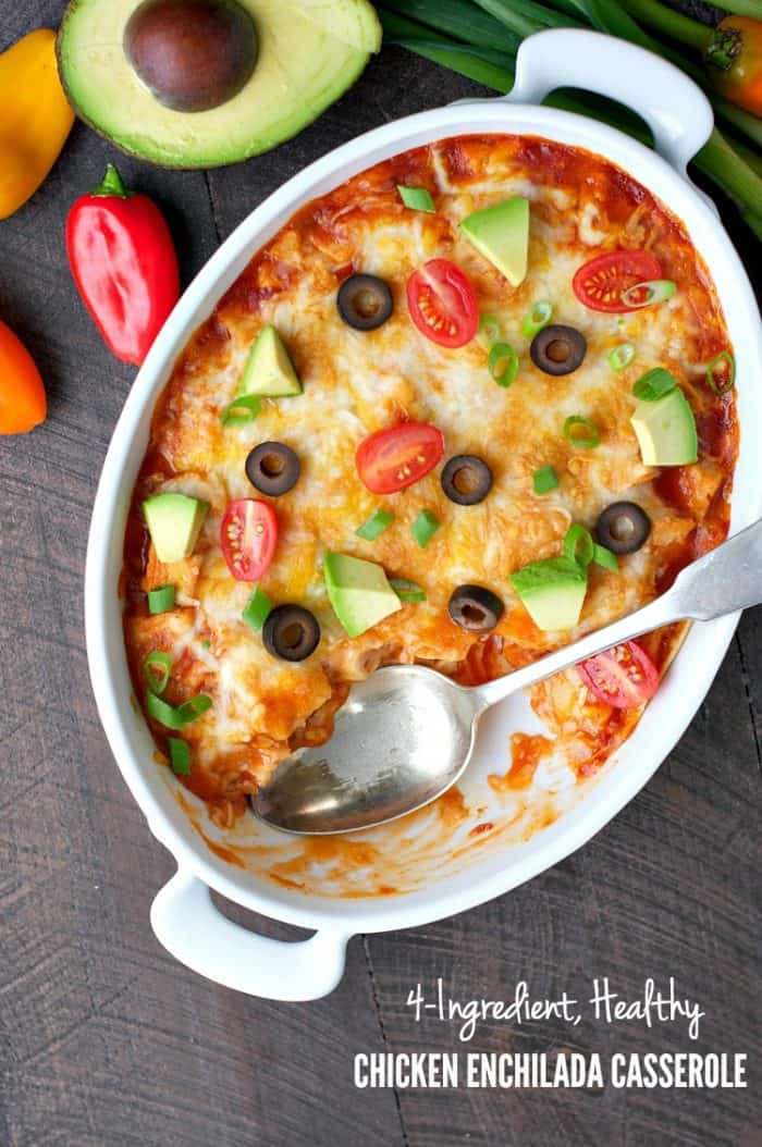 4-Ingredient-Healthy-Chicken-Enchilada-Casserole-TEXT