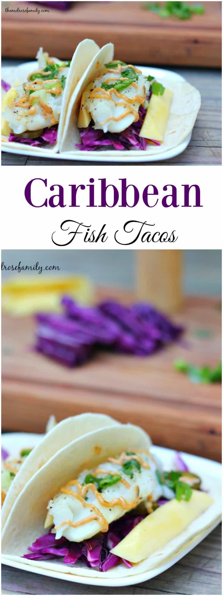 Not sure what to make for dinner? These Caribbean Fish Tacos are an easy weeknight meal full of fresh ingredients
