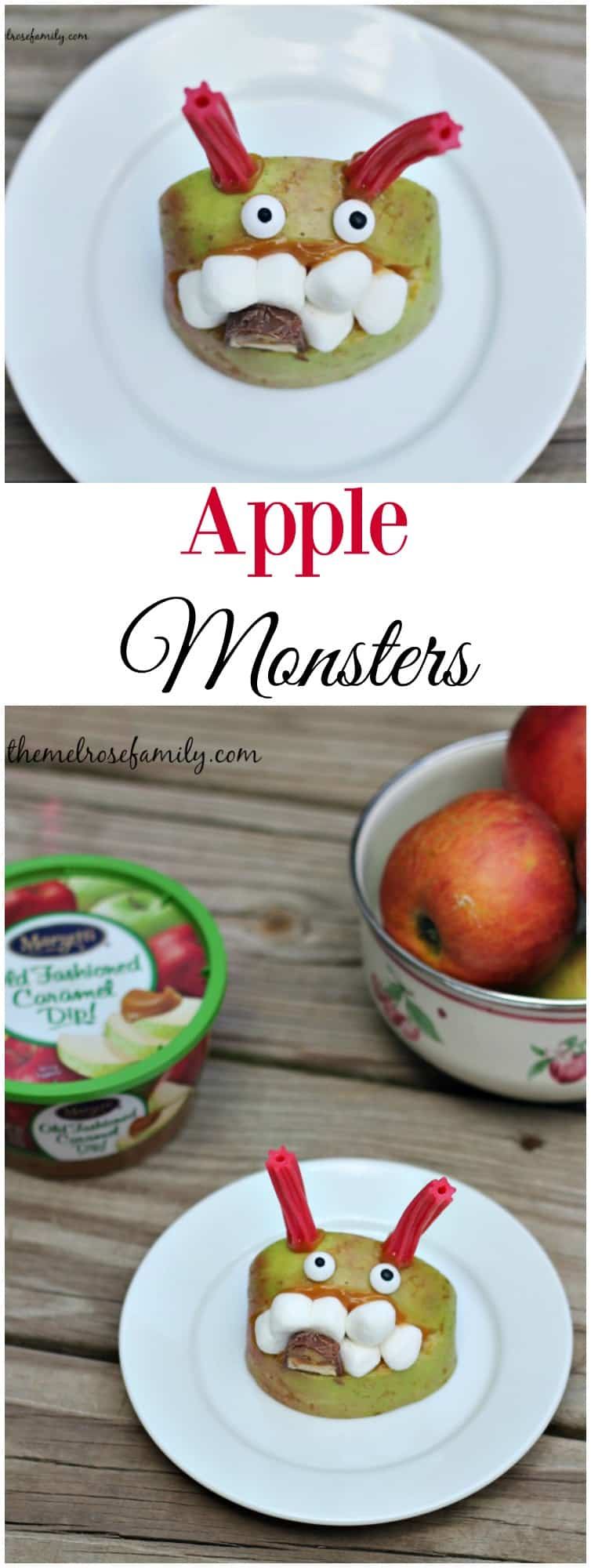 Ready to start a new Fall tradition? These Apple Monsters with Marzetti Old Fashioned Caramel are fun to make and eat.