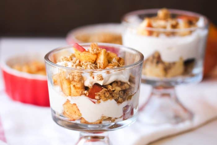 Apple Pie Parfait snack idea