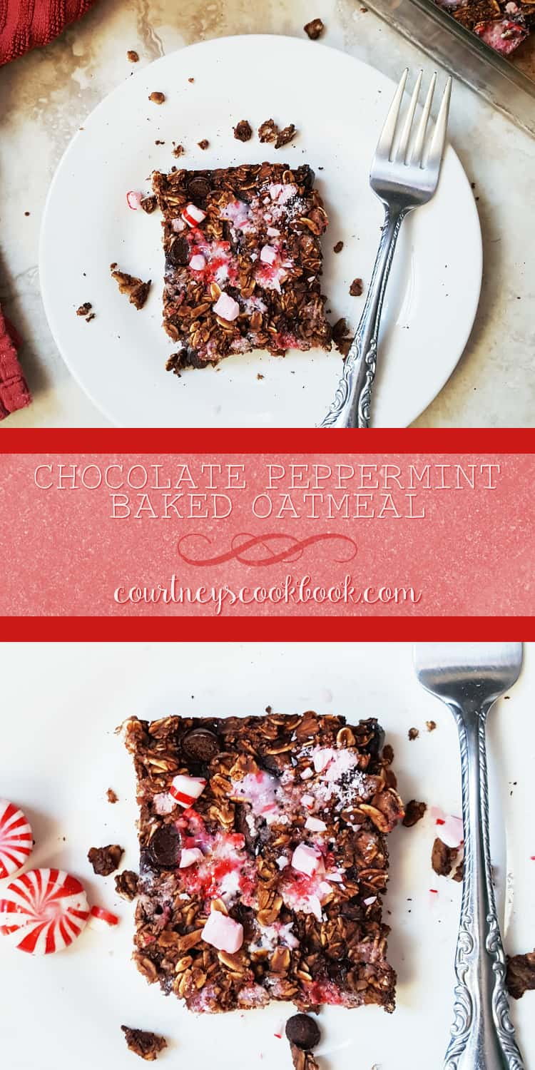 Looking for a fun breakfast idea? This Chocolate Peppermint Baked Oatmeal will do the trick!