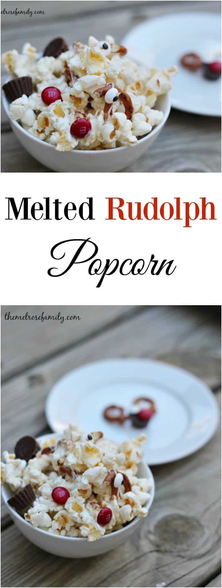 Who is your favorite Christmas character? We love Rudolph so this Melted Rudolph Popcorn is always a huge hit each year when we watch our Christmas movies.