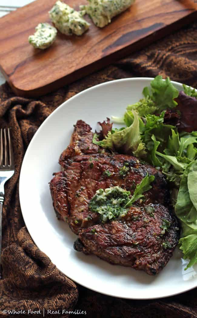 ribeye-with-garlic-shallot-compound-butter