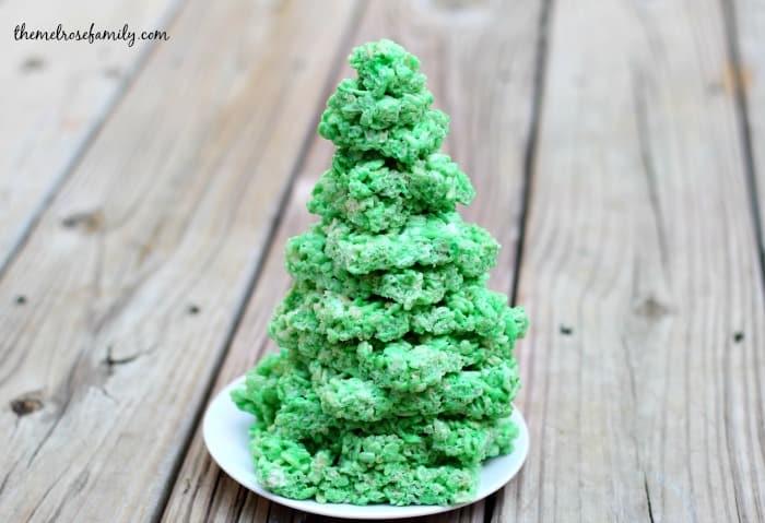 Christmas Tree Cake.Christmas Tree Rice Krispie Treat