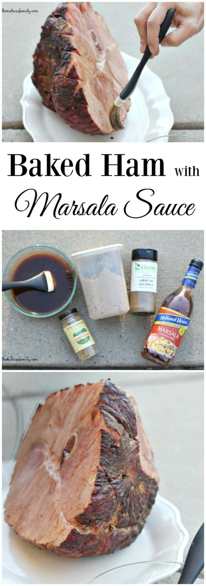 Ready for an easy special occasion dinner? This Baked Ham with Marsala Sauce recipe is as easy as it gets.