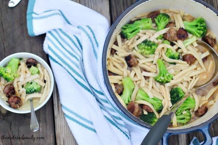 broccoli-sausage-noodle
