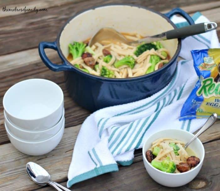 broccoli-sausage-noodle-soup