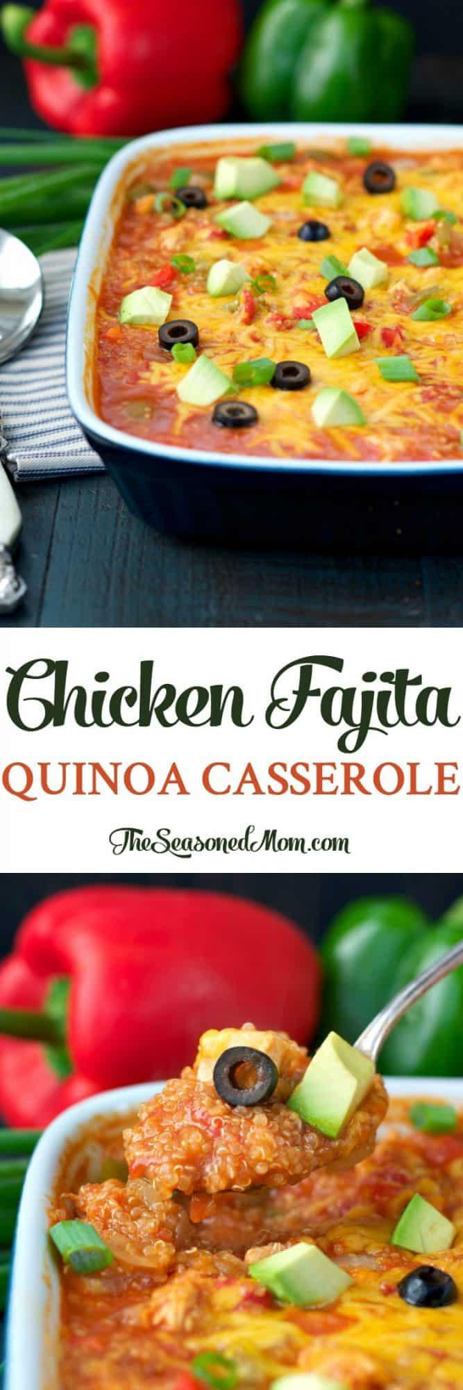 Chicken Fajita Quinoa Casserole