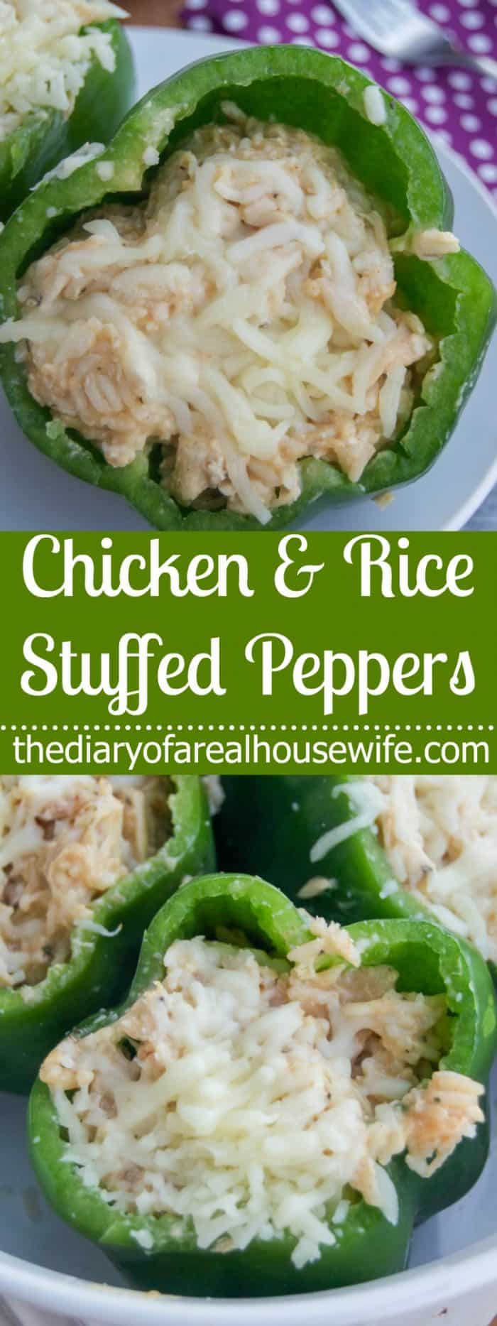 Chicken and Rice Stuffed Peppers for an easy family dinner