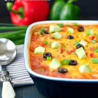 Chicken Fajita Quinoa Casserole for an easy family meal