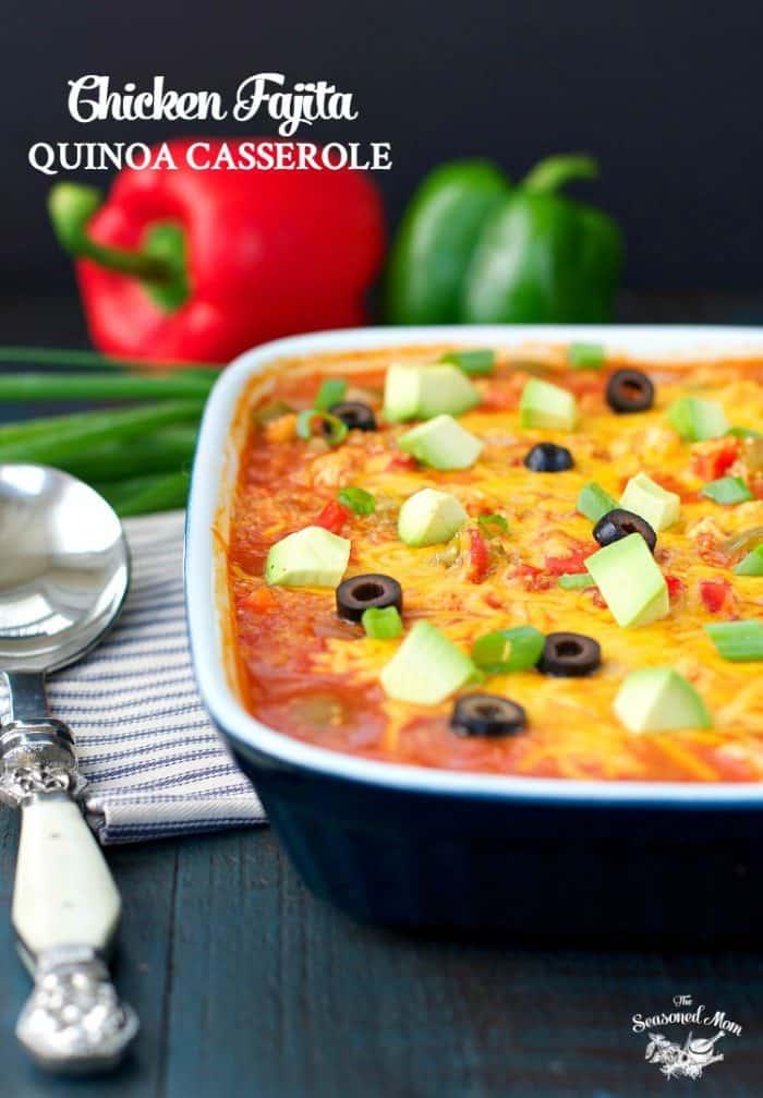 Chicken Fajita Quinoa Casserole for an easy family meal