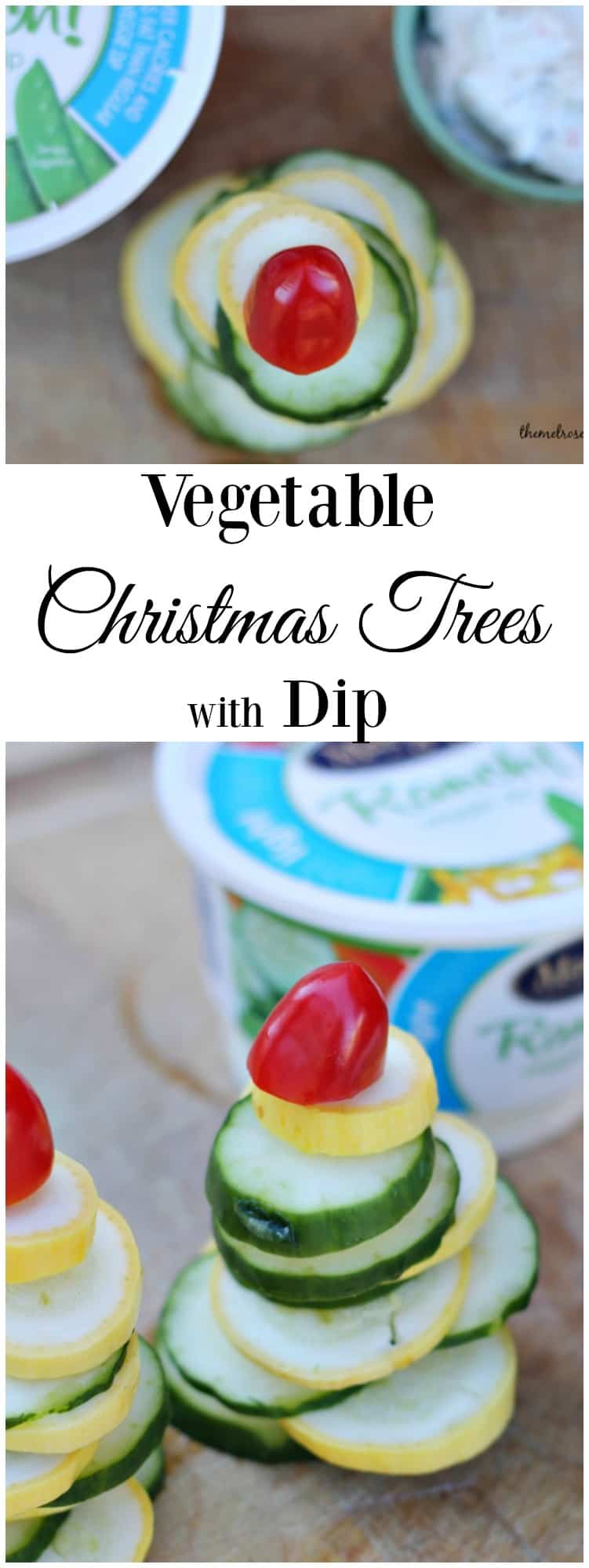 Looking for the perfect Holiday appetizer?  These vegetable Christmas Trees with Dip will even have the kids eating their veggies. #ad