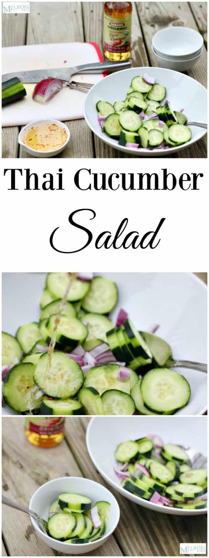 Thai Cucumber Salad on a plate