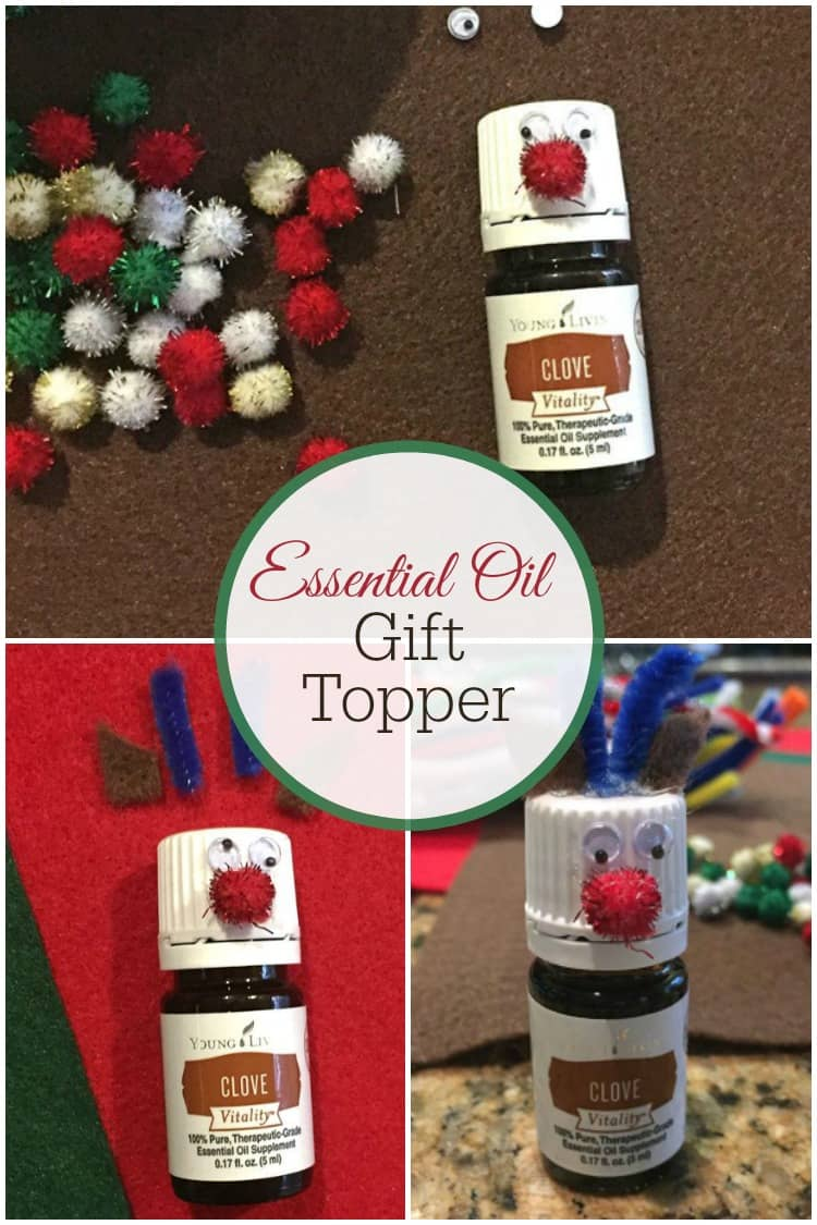 Make these cute essential oil gift toppers in just a few minutes!