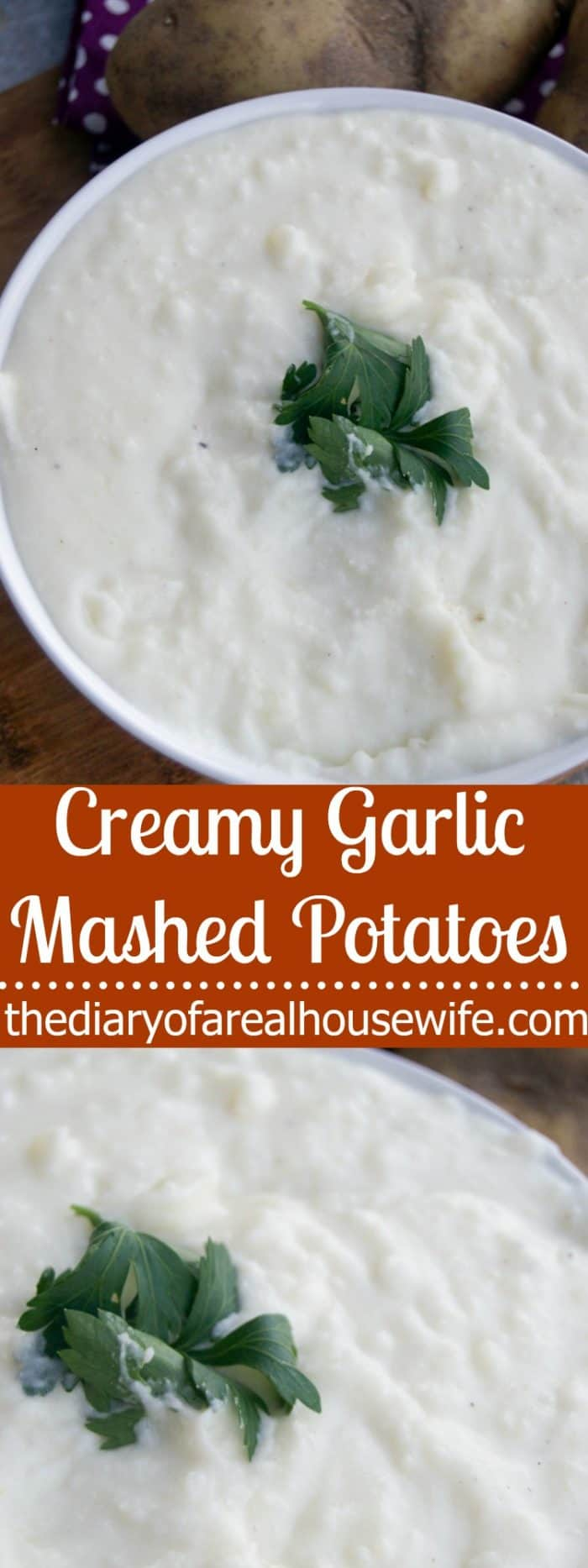 These creamy garlic mashed potatoes are absolutely delicious!