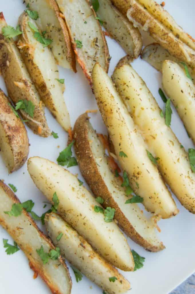 Delicious baked parmesan garlic fries!