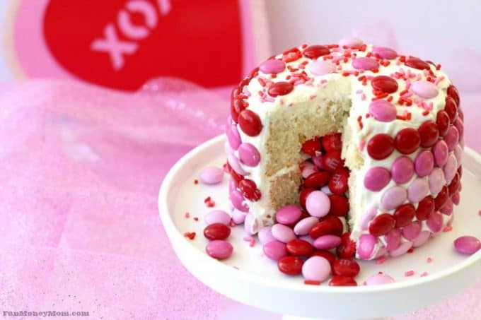 Cut your Valentine cake open to reveal a hidden surprise