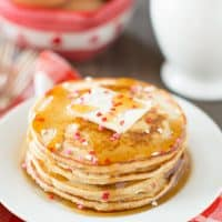 Delicious, wholesome easy Valentine pancakes make a great breakfast!