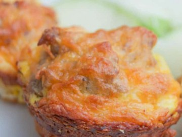 Easy to make Cheesy Sausage Egg Cups are the perfect breakfast recipe for the entire family. Make these ahead for a simple breakfast routine during the week. Serve with a side of fruit for a balance and filling meal.