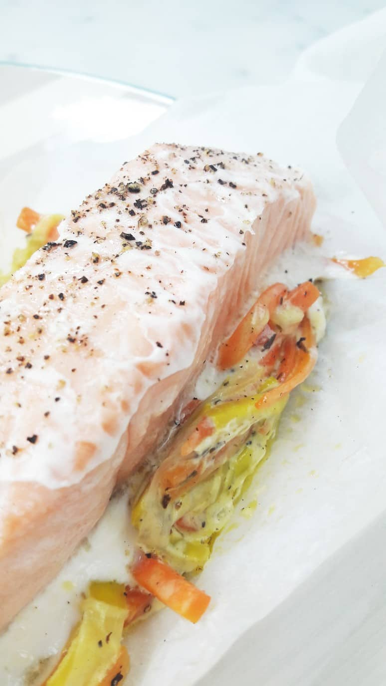 Have this quick and easy salmon baked in parchment paper on a busy weeknight!