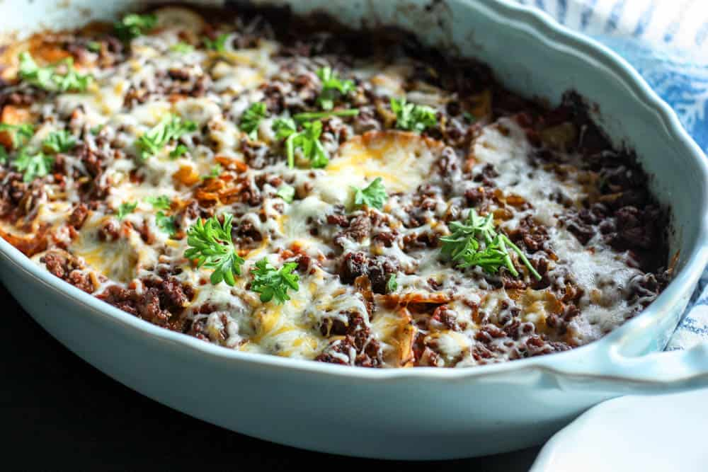 Delicious and healthy Tex-Mex Lasagna is great for dinner!