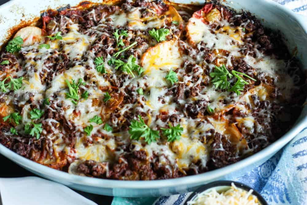 This Tex-Mex Lasagna is both healthy and delicious! Make it for dinner tonight!