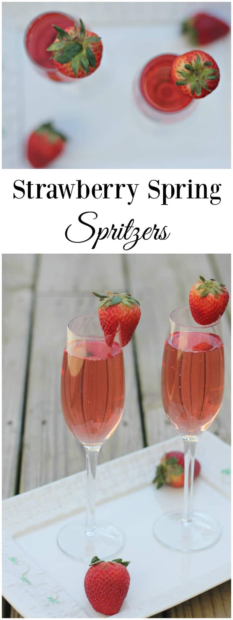 We're backyard spring cleaning and getting ready with some Strawberry Spring Spritzers drawtheline AD