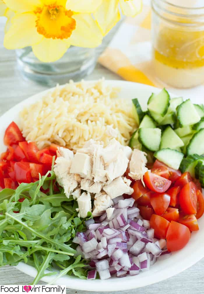 You'll love how light and fresh this chicken orzo salad is!