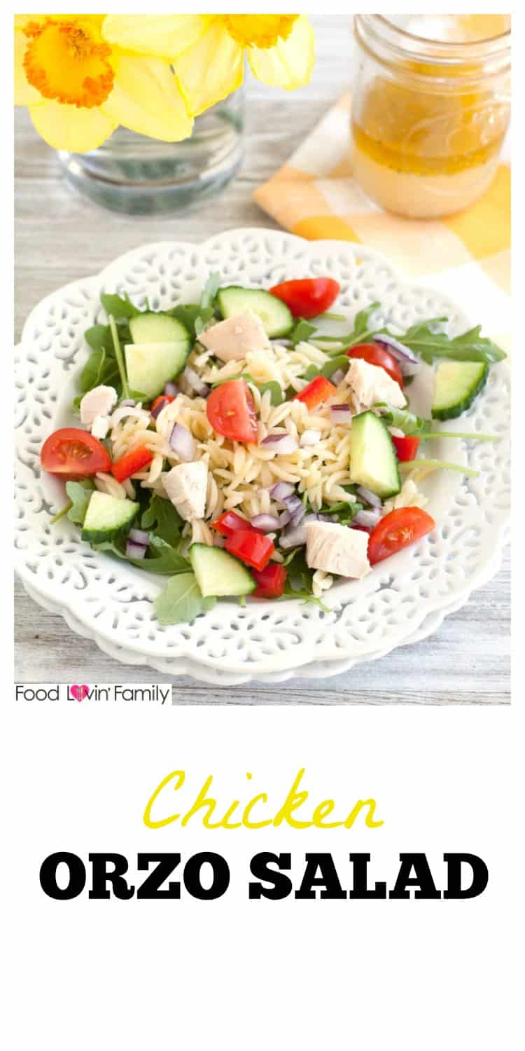 This chicken orzo salad make a light and fresh meal.