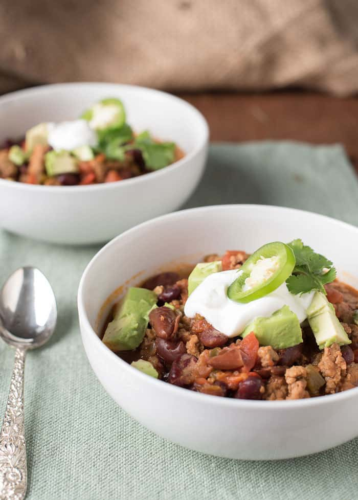 This Insta-Pot Chili is the perfect dinner! Check out these 8 Mealtime Strategies for Busy Parents too!