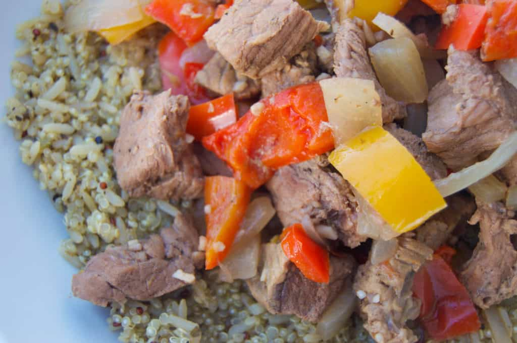 Slow Cooker Steak and Bell Peppers
