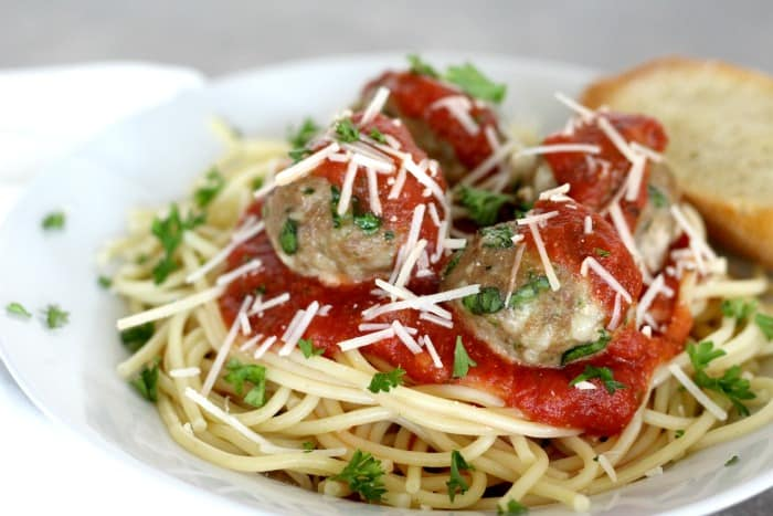Cheese & Spinach Turkey Meatballs