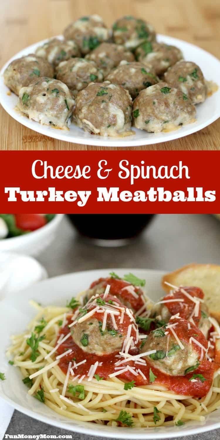Having trouble getting the kids to eat their veggies? They're going to love these cheese and spinach turkey meatballs!